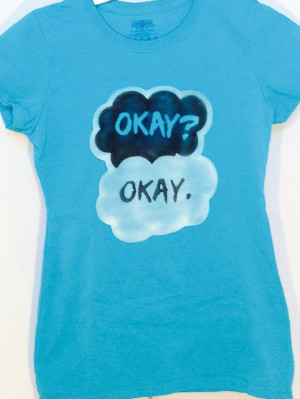 The Fault in Our Stars, John Green, Book Quote, Okay, Shirt