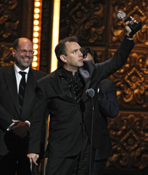 Trey Parker accepts the award for Best Musical for