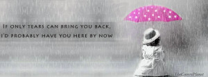Girl sitting alone in rain with umbrella Facebook cover is specially ...