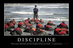Discipline: Inspirational Quote and Motivational Poster Photographic ...