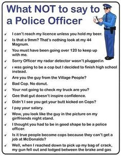 ... police officer - pictures, quotes, film clips... some are really funny