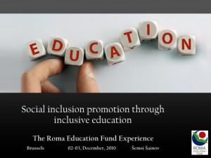 Social inclusion promotion through inclusive education