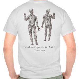 Thinking Man's Workout Shirt Thomas Edison Quote