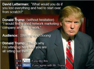 For the record, this Donald Trump MLM Quote is not True
