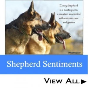 german shepherd designs combining humorous quotes phrases and ...