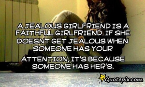 Jealous Girlfriend Quotes