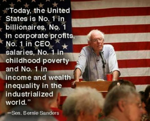 Bernie Sanders - the U.S. is number one