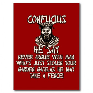 Funny Confucius he say Post Card