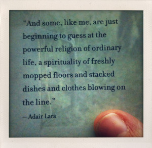 amen! ah, the spirituality of sweeping. what encounters of the ...