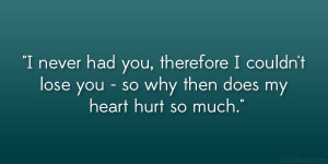Quotes Being Hurt...