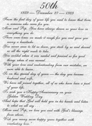 1960s - Charlie and Merle 1989 - 50th wedding anniversary poem