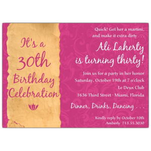 invitations birthday invitations milestone invitations 30th birthday ...