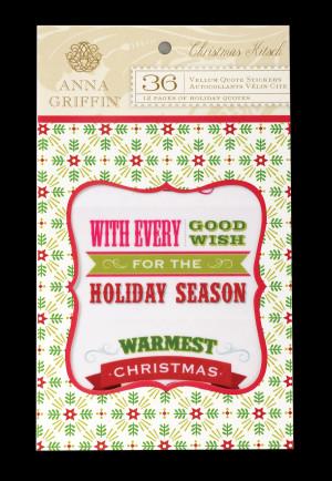 Christmas Kitsch Vellum Quote Stickers
