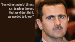 Posts Tagged: bashar al assad quotes