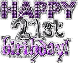 It's my daughter Samantha's 21st birthday!