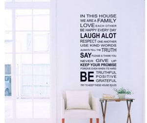 free shipping New removable home decor words quote wall stickers/house ...