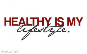 Runner Things #1393: Healthy is my lifestyle.