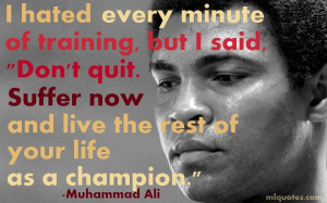 belief becomes the deep conviction every minute of training its
