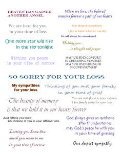Sympathy Cards | Verses for Sympathy Cards That Express Your Deepest ...
