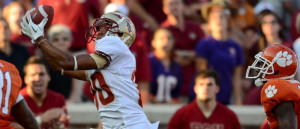 Florida State wide receiver Rashad Greene pulls in a fourth quarter ...