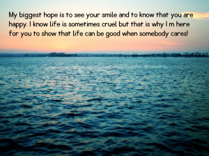 My biggest hope is to see your
