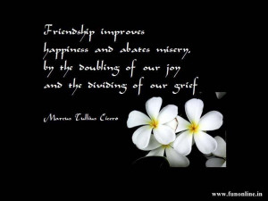 Friendship Wallpaper with Quote