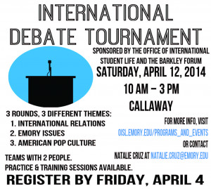 Spring 2014 International Student Debate