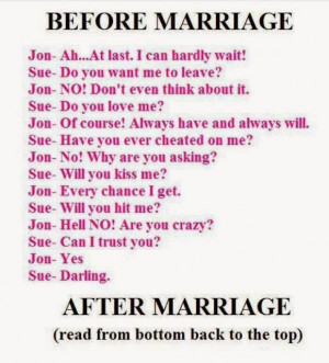 Before and after marriage..