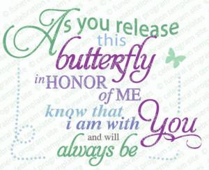 Butterfly Release Word Art