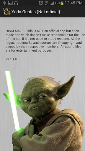 View bigger - Yoda Sounds and Quotes for Android screenshot