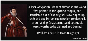 Lies sent abroad in the world, first printed in the Spanish tongue ...