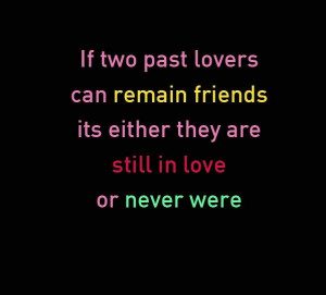 Two Past Lovers