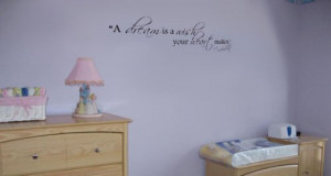 "Cinderella Quote Vinyl Wall Decal Sticker Decor ""A Dream Is a Wish ..."