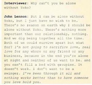 John Lennon And Yoko Ono Love Quotes