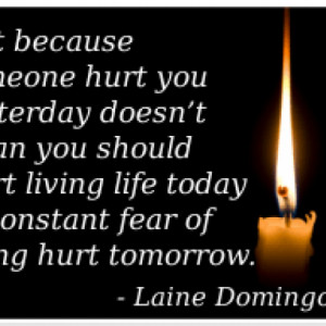Laine Domingo Quote On Being Hurt & Moving On