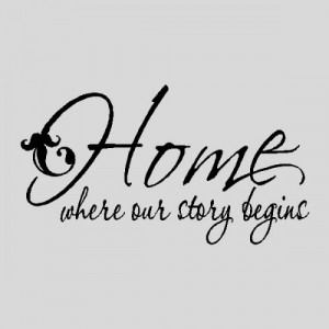 Home Where Our Story...Wall Quotes Words Sayings Removable Wall ...