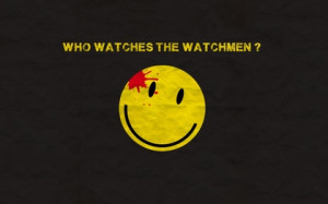 watchmen blood quotes typography smiley face simple background franck ...