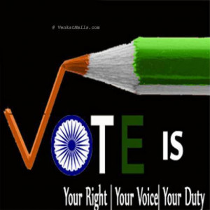 vote is powerful but only when you vote.