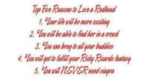 Top 5 Reasons To Love A Redhead Picture