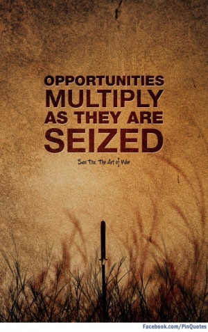 """... multiply as they are seized."""" - Sun Tzu, The Art of War #quotes"""
