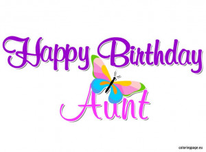 Happy Birthday Aunt   Coloring Page