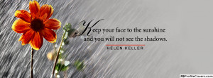 Helen Keller Quote Facebook Timeline Cover