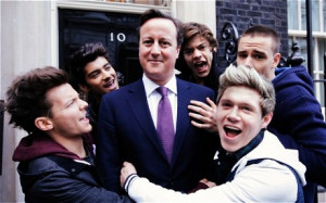 David Cameron makes an appearance on boy band One Direction's charity ...