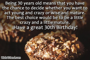 30th Birthday Wishes
