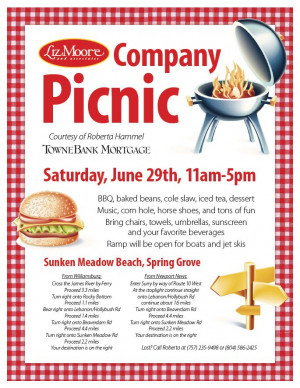 Mark your calendars! Our company picnic, courtesy of Roberta Hammel of ...