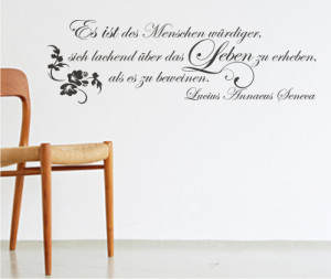 Leben Wand Tattoo Zitat Lucius Annaeus Seneca Zitate Tattoos