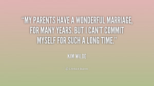 My parents have a wonderful marriage, for many years. But I can't ...
