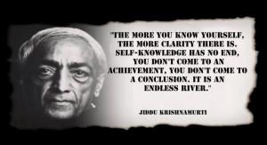 Jiddu Krishnamurti Quote: Self Knowledge