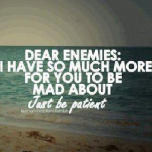 Dear enemies