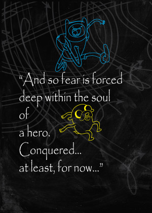 Adventure Time, Finn and Jake Quote Poster by MIXPOSTERS